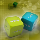 Two dice Stock Photography
