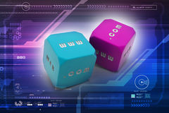 Two dice. In color background Royalty Free Stock Photos