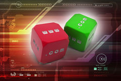 Two dice. In color background Stock Photo
