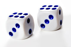 Two dice cubes Stock Photos