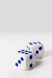 Two dice cubes Stock Images