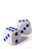 Two dice cubes Royalty Free Stock Photography