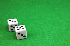 Two dice for a game of dice Royalty Free Stock Photography