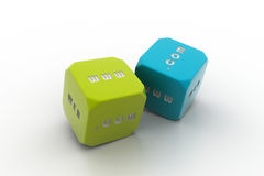 Two dice Royalty Free Stock Photography