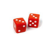 Two dice isolated Stock Photography