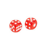 Two dice isolated on white background Stock Photo