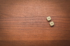 Two dice number double one Royalty Free Stock Photo