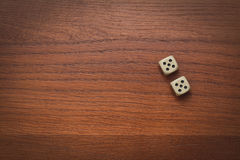 Two dice number double 5 Royalty Free Stock Photography
