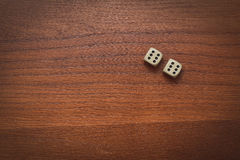 Two dice number double 6 stock image