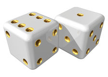 Two dices Royalty Free Stock Images