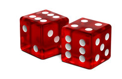 Two dices Stock Photos