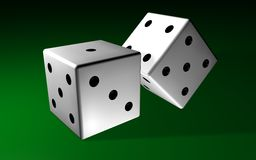 Two dices Royalty Free Stock Image