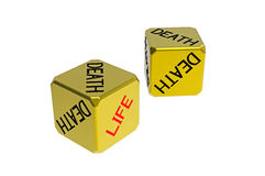 Two dices life death Stock Photography