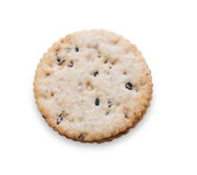 Two diet cookies with scalloped edge isolated Royalty Free Stock Image