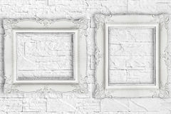 Two diferent white frame Stock Photos