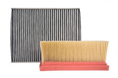Two different air filters Royalty Free Stock Image