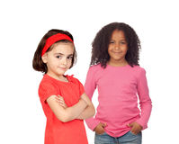 Two different beautiful little girls Royalty Free Stock Photo