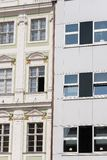 Two different buildings. Modern and old-fashioned royalty free stock images