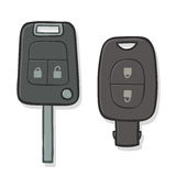 Two different car keys Royalty Free Stock Photos