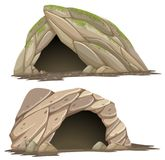 Two different caves on white background royalty free illustration