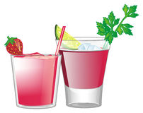 Two different cocktails Stock Photography