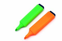 Two highlighters stock image