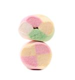 Two different colorful marshmallow. Close up. Royalty Free Stock Photography