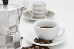 Two different cups royalty free stock images