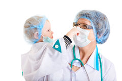 Two different doctors Stock Photos