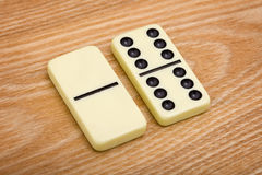Two different dominoes Stock Images