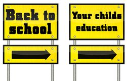Two different educational signs Royalty Free Stock Photos