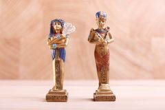 Two different Egyptian figures stock photo
