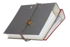 Two different folders with chain royalty free stock photography