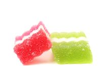 Two different fruit-paste candies. Royalty Free Stock Photos