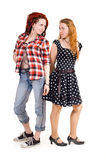 Two different girls Stock Photography