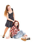 Two different girls Royalty Free Stock Image