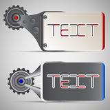 Two different mechanical horizontal banner style.  Vector Illustration