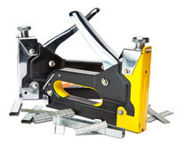 Two different metal stapler for repair work on the house Royalty Free Stock Photo