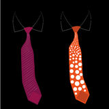 Two different neckties Stock Images
