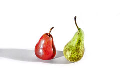 Two different pears Royalty Free Stock Images