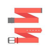 Two different red belt. Isolated on white background. flat style trendy modern design vector illustration Royalty Free Stock Images