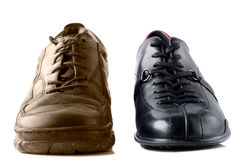 Two different shoes Royalty Free Stock Image