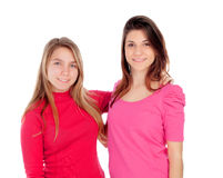 Two different sisters Stock Photography