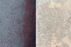 Two different textures in concrete Stock Images