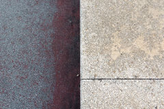 Two different textures in concrete Stock Photography