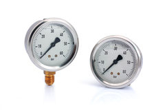 Two different type manometer isolated Royalty Free Stock Images