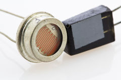 Two different types of semiconductor sensors. Magnetic sensors Royalty Free Stock Photo