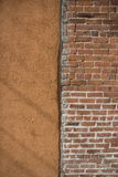 Two different wall styles Royalty Free Stock Photography