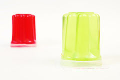 Two differently colored gelatin Royalty Free Stock Image