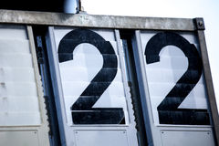 Two digit numbers Royalty Free Stock Image